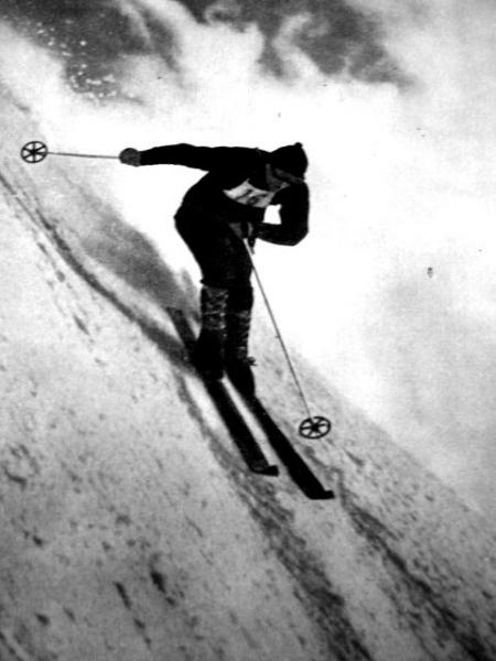 Kasprowy Wiercch narciarz