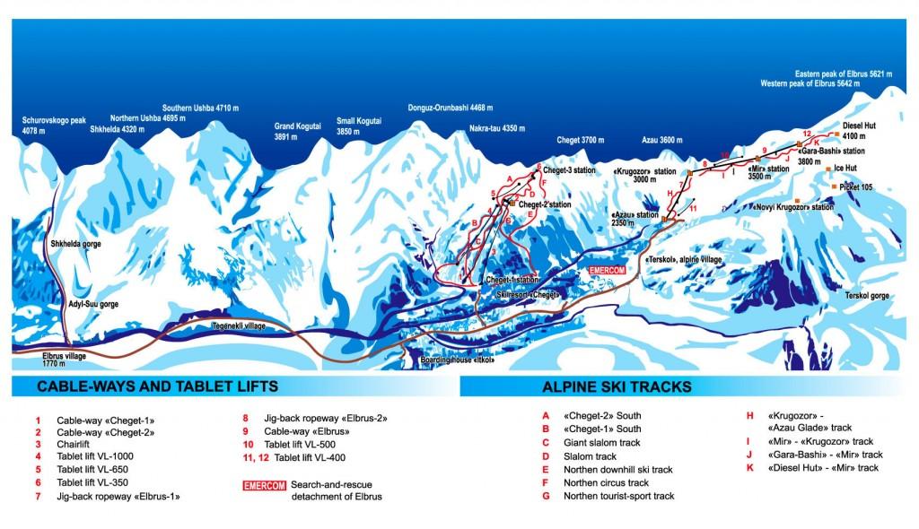 Elbrus mapa